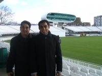 With friend and co-author, Boria Majumdar at Lord's