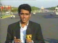 Reporting from Parliament for NDTV, 2001