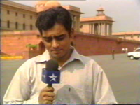 Reporting from Raisina Hill for NDTV, 2001