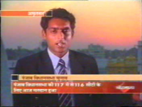 Reporting for NDTV on Punjab election, 2002