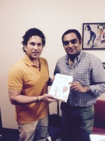 Sachin is Sachin: at his house, Nov. 2014
