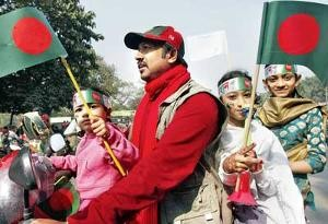 Bangladeshis celebrate their 40th Victory Day anniversary in Dhaka
