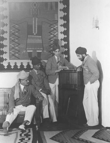 Los Angeles 1932: The Indian delegation in the Olympic village