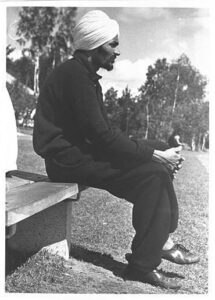 Berlin 1936: A member of the Indian delegation