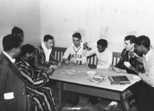 Poker game of Indian hockey players