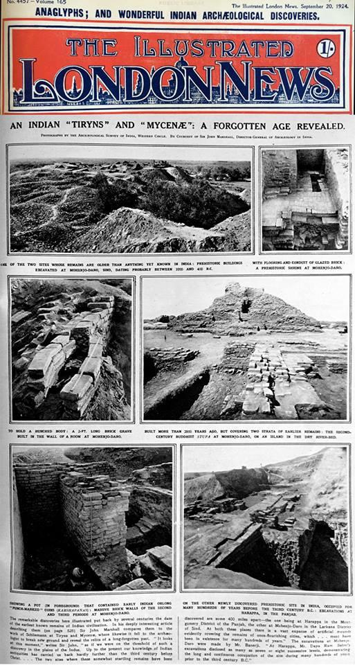 John Marshall's announcement of Harappa's discovery   The Illustrated London News, Sept. 20, 1924.