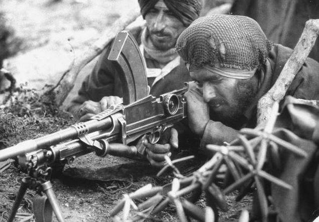 Indian soldiers during the 1962 India-China war. (Getty Images photo)
